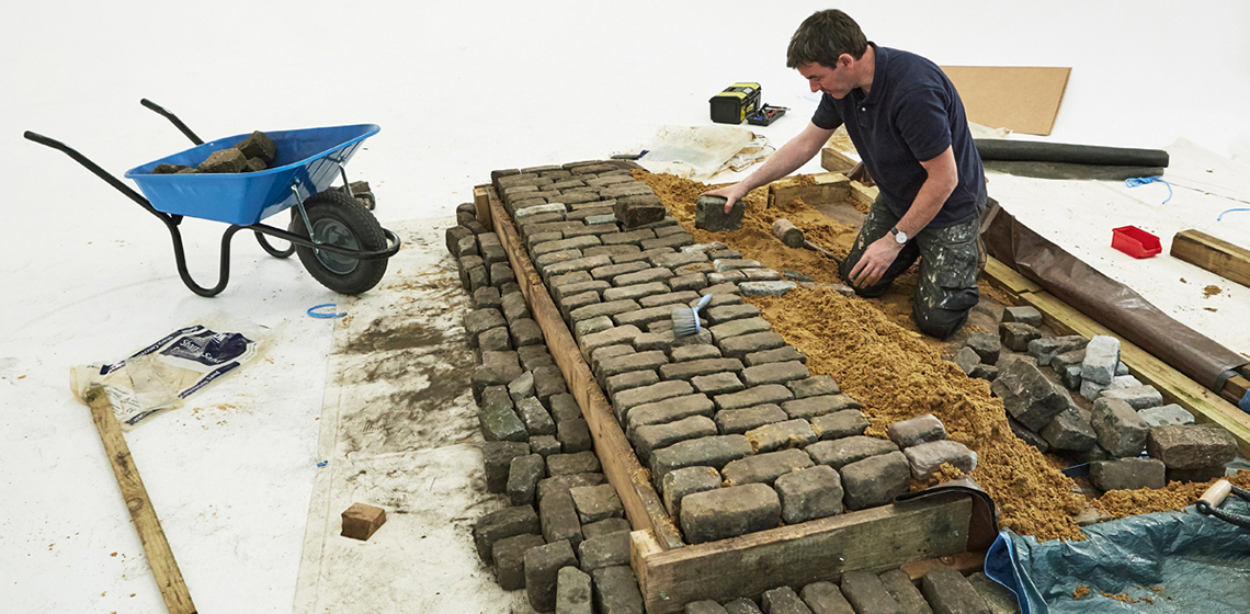 Behind the Scenes with Shimano: Building a Cobblestone Road